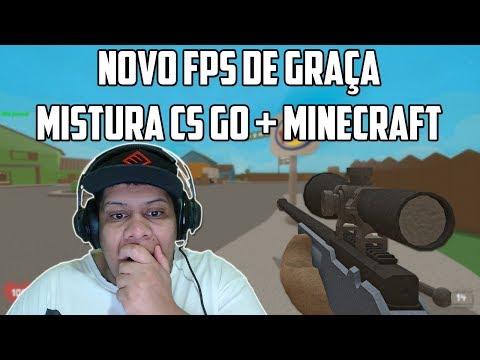 SAIU! NOVO FPS DE GRAÇA MISTURA CSGO E MINECRAFT *SCRAM*