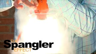 Light bulb in Liquid Nitrogen - The Spangler Effect