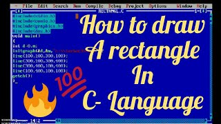 How to draw a rectangle in C- Language
