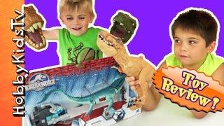 Jurassic World Mosasaurus + T-Rex Battle! Box Open Review HobbyKidsTV
