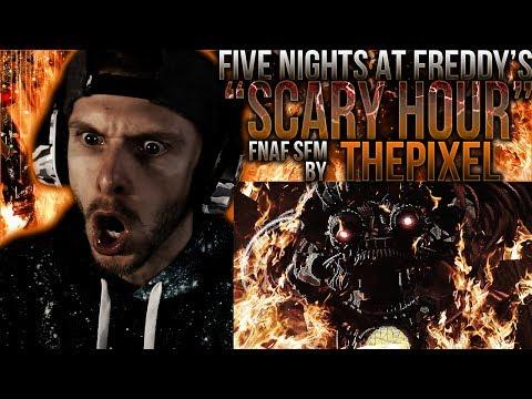 Vapor Reacts #624  FNAF SFM CREEPY FNAF 6 ANIMATION Scary Hour  ThePixel REACTION!!