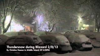 Thundersnow during Blizzard, Nemo