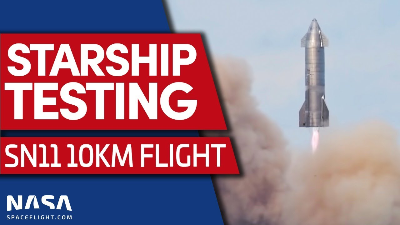 Download Full Replay: Starship SN11 test flight from a foggy Boca Chica, Texas