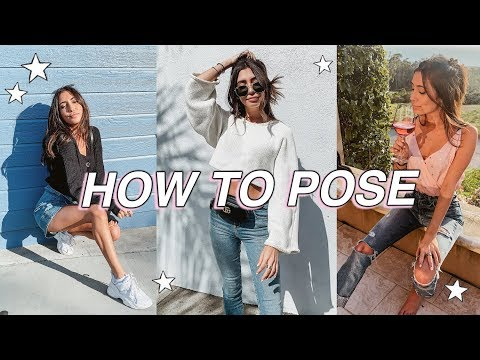 How To Pose For Photos // 10 EASY Poses For Instagram!