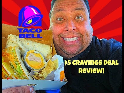 Taco Bell® New $5 Cravings Deal Review!