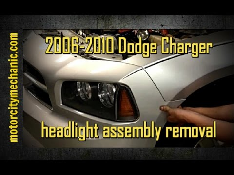 2006 2010 Dodge Charger Headlight Assembly Removal Youtube