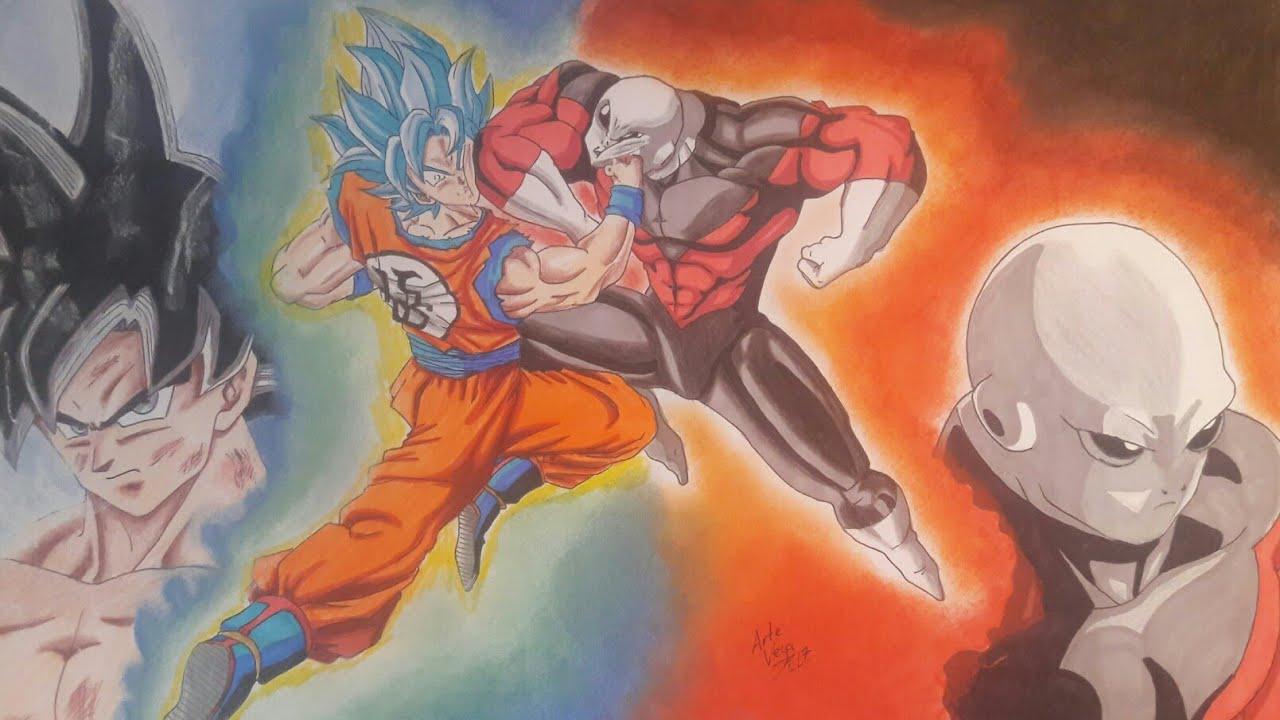 Goku Vs Jiren Speed Drawing Batalla épica Colaboración Con En Canal Dibujar Y Pintar