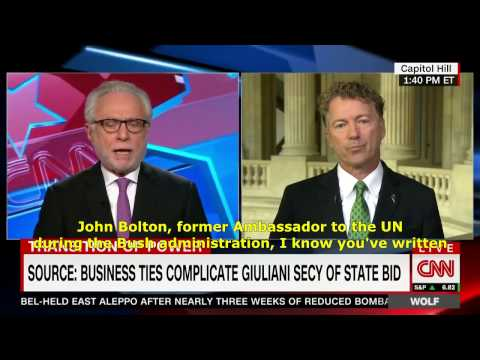 Rand Paul: John Bolton needs to disavow regime change to be SoS