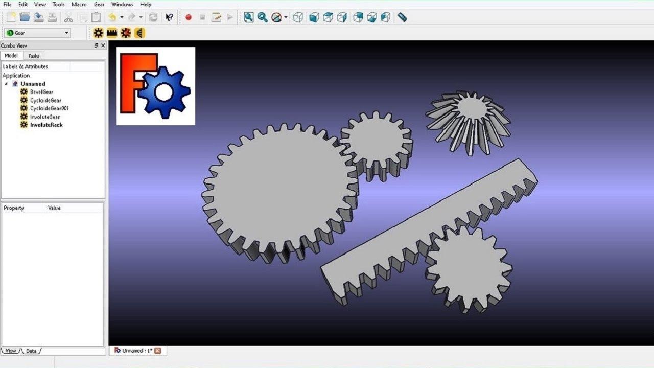 freecad gear workbench fcgear module
