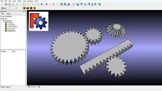 FreeCAD Gear Workbench (FCGear Module)