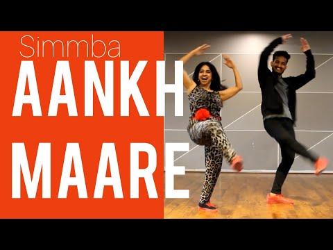 aankhMAARE SIMMBA AANKH MAARE BOLLYWOOD DANCE RANVEER SINGH SARA ALI KHAN EASY STEPS RITUS