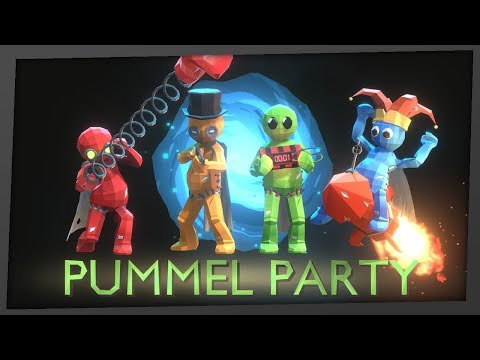 Pummel Party - BLOODY MARIO PARTY?! (4 Player Gameplay)