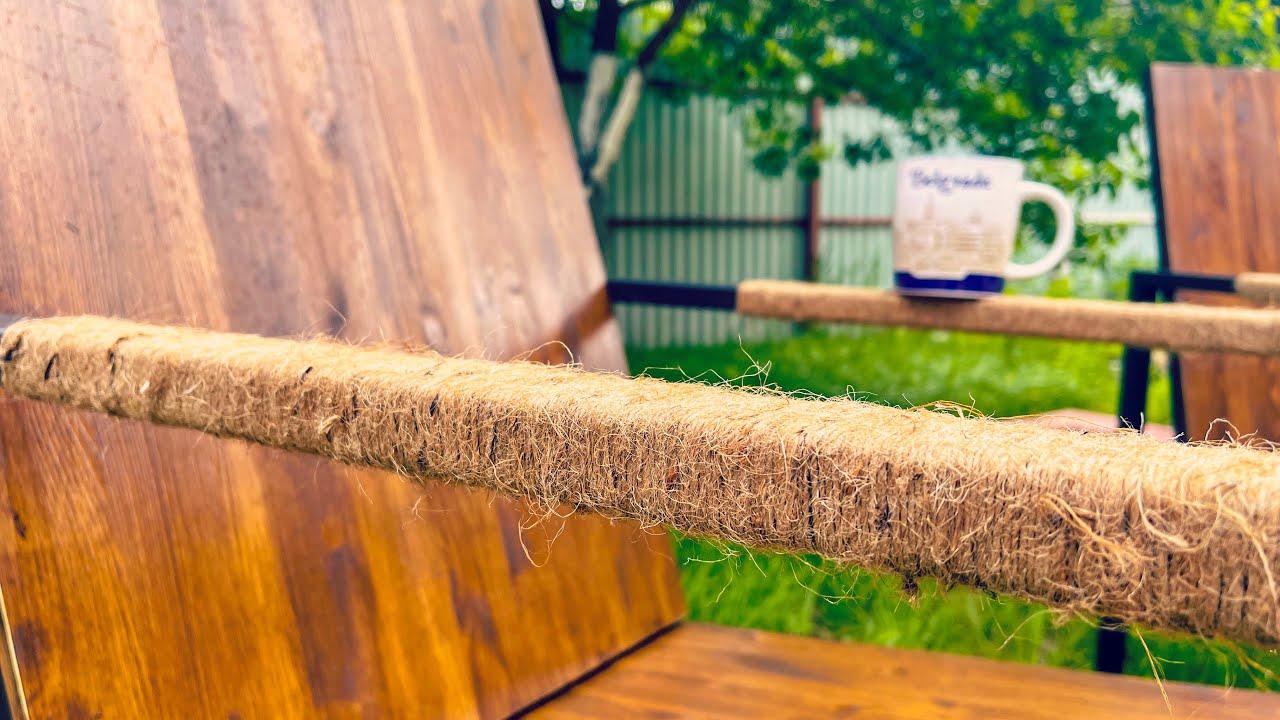 Loft lounge chair \ Удобные кресла для дачи в стиле ЛОФТ \ кресла из профильных труб и дерева