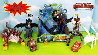 How To Train Your Dragon 3 Hidden World Whispering Death Toy Unboxing LEGO's UltraKatty & Light Fury