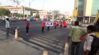 Road Safety Campaign by Muskaan Foundation at Rambagh Chauraha Jaipur