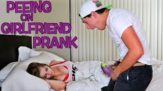 PEEING ON GIRLFRIEND PRANK : Bathroom Prank Gone Wrong