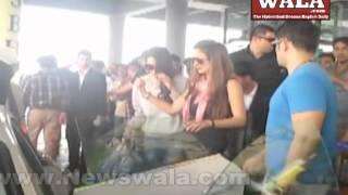 Salman Khan's sister wedding in Hyderabad - Bride, Bollywood Celebs arrive at RGI airport Shamshabad