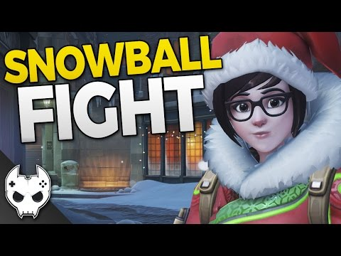Overwatch SNOWBALL FIGHT - New Holiday Brawl
