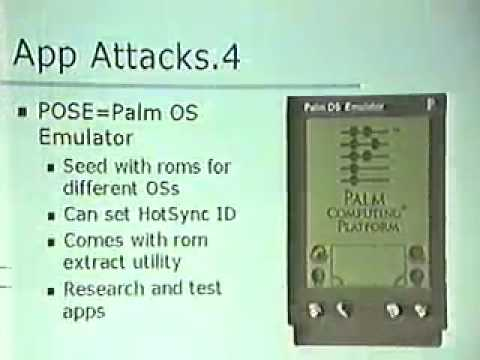 DEF CON 8 - Adam Bresson - Palm OS Security