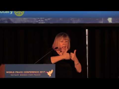 Jody Williams at the Rotary World Peace Conference in Ann Arbor Michigan, USA