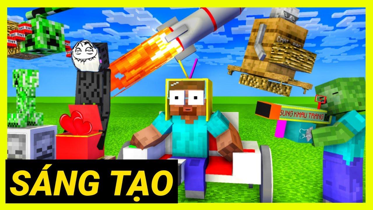 [ Lớp Học Quái Vật ] BUỔI HỌC SÁNG TẠO ( Full )   Minecraft Animation