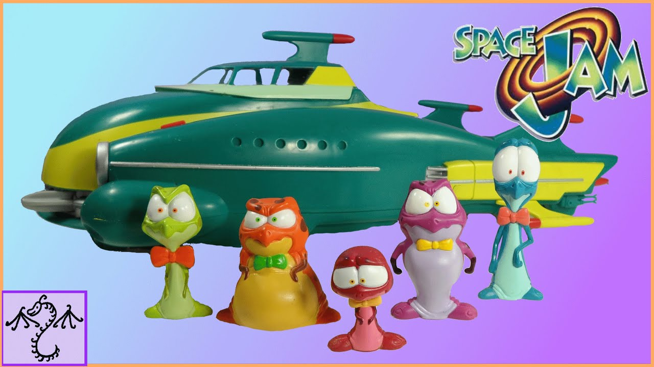 1996 Space Jam Moron Airship With Nerdluck Figures Toy Review Youtube