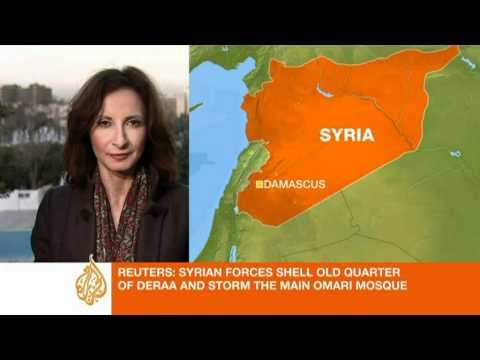 Mosque stormed in Deraa