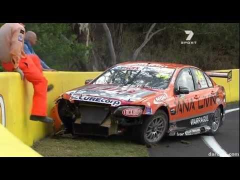 V8 Supercars 2011 Bathurst Qualifying - Jason Bargwanna crashes hard