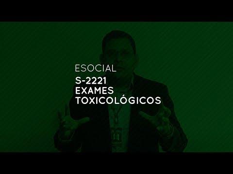eSocial: S-2221 Exames Toxicológicos