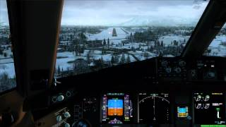 FSX Flight Simulator X HD - PMDG777 Landing at Salzburg