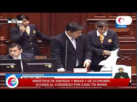 Ministros de Energía y de Economía acuden hoy al Congreso | RTV EN VIVO