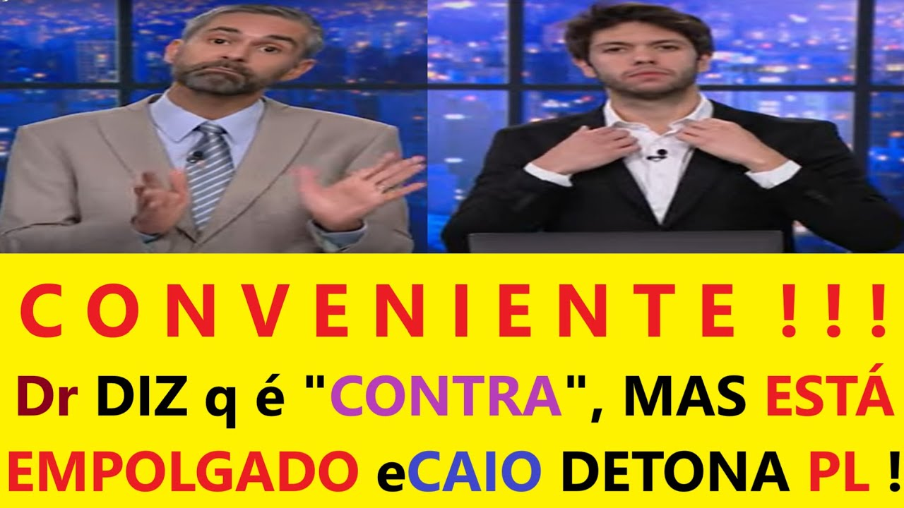 Caio Coppolla ACABA COM PL da CENSUR4 q Bolsonaro VAI VETAR e Dr DIZ q é CONTRA, MAS ESTÁ EMPOLGADO