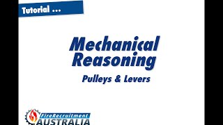 Mechanical Reasoning Pulleys and Levers