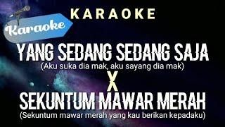 [Karaoke] Yang sedang sedang saja X Sekuntum mawar merah   (Karaoke)
