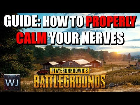 GUIDE: How to PROPERLY Calm Your NERVES in PLAYERUNKNOWN's BATTLEGROUNDS (PUBG)