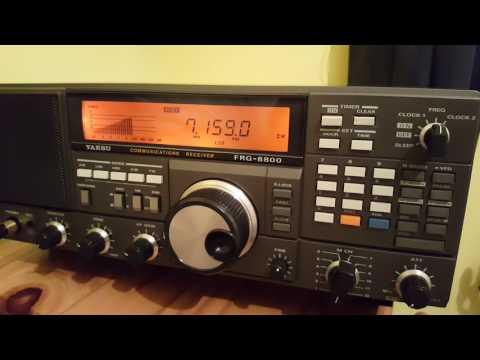 Yaesu FRG 8800 . Fully Aligned And Orange Display Conversion.