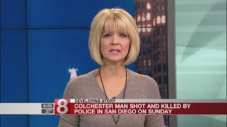 Colchester man killed during incident with San Diego police