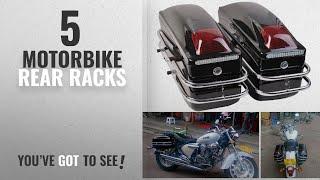 Top 10 Motorbike Rear Racks [2018]: Costway Universal Motorcycle Side Pannier Boxes Hard Saddle