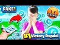 TROLLING MY LITTLE BROTHER w/ FAKE V-BUCKS! Fortnite: Battle Royale Gameplay