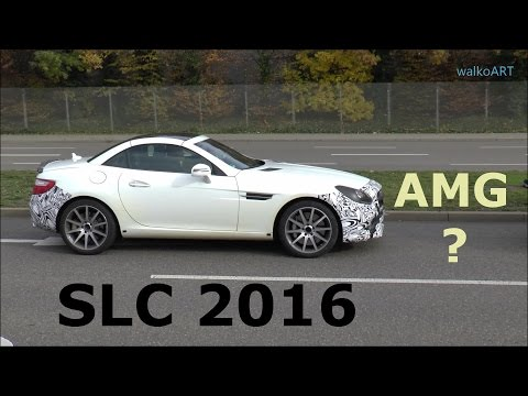 Mercedes Erlkönig SLC R172 (SLK Facelift) 2016 prototype Sport /AMG-Version ? SPY VIDEO