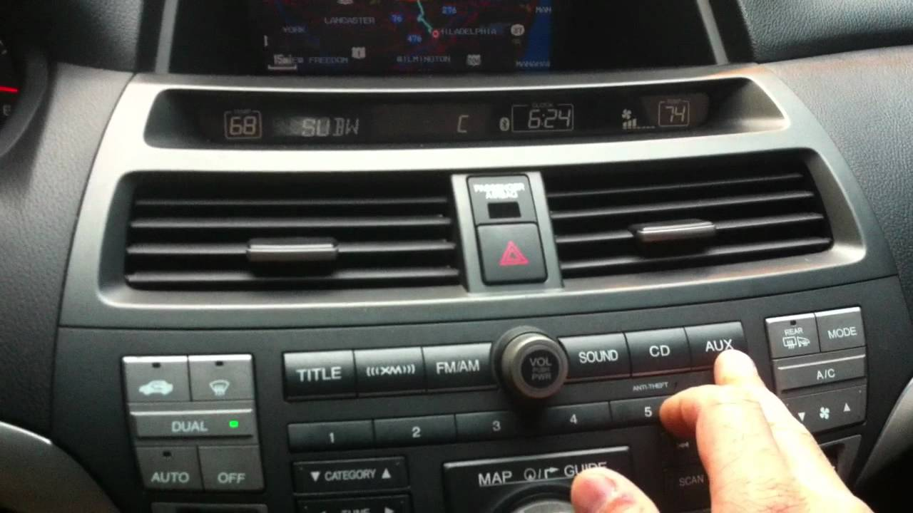 Honda Accord Ex-L >> 2008 Honda Accord EX-L V6 with Navigation Interior Tour - YouTube