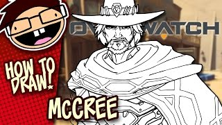 How to Draw JESSE McCREE (Overwatch) | Narrated Easy Step-by-Step Tutorial