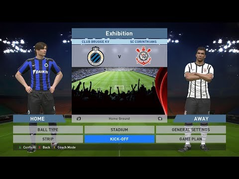 Club Brugge KV vs SC Corinthians, Jan Breydel Stadion, PES 2016, PRO EVOLUTION SOCCER 2016