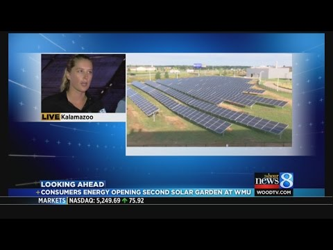 Consumers Energy to debut solar garden at WMU