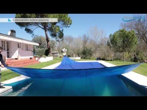 Manta t rmica o cobertor para piscina y enrollador hazlo for Lona piscina redonda