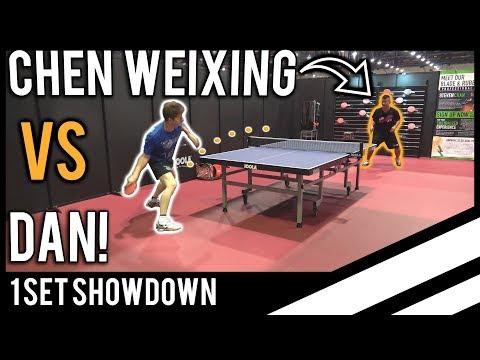 Chen Weixing vs TableTennisDaily's Dan!