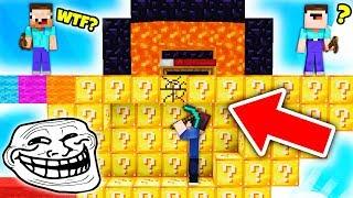 TROLL NA NOWYCH BEDWARS!!! - Minecraft Lucky Bedwars
