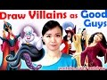 Art Challenge - Draw Villains as GOOD GUYS! | Mei Yu - Fun2draw