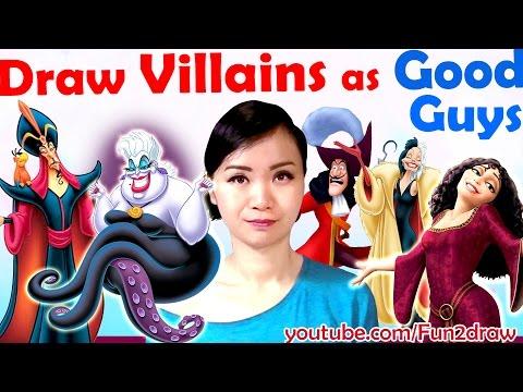 Art Challenge - Draw Villains as GOOD GUYS! | Mei Yu