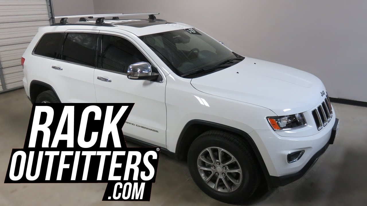 Marvelous Jeep Grand Cherokee Outfitted With Thule AeroBlade Roof Rack Crossbars